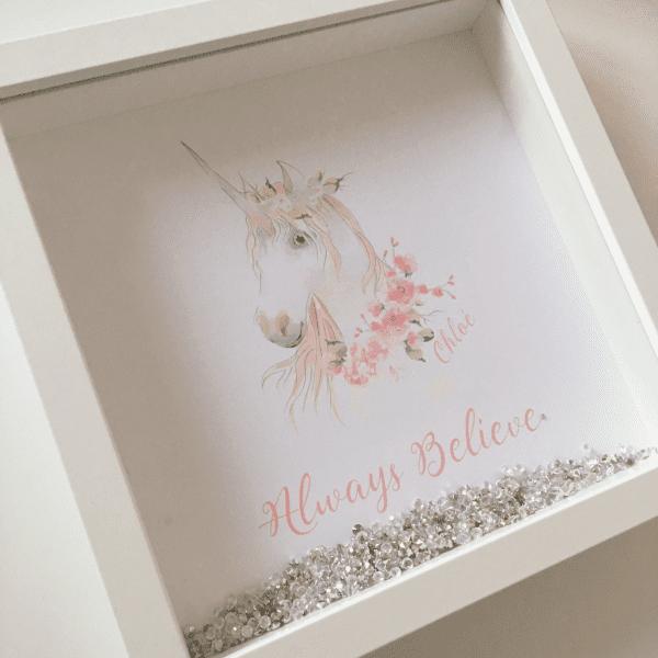 Always Believe Personalised Unicorn Frame | Love Unique Personal