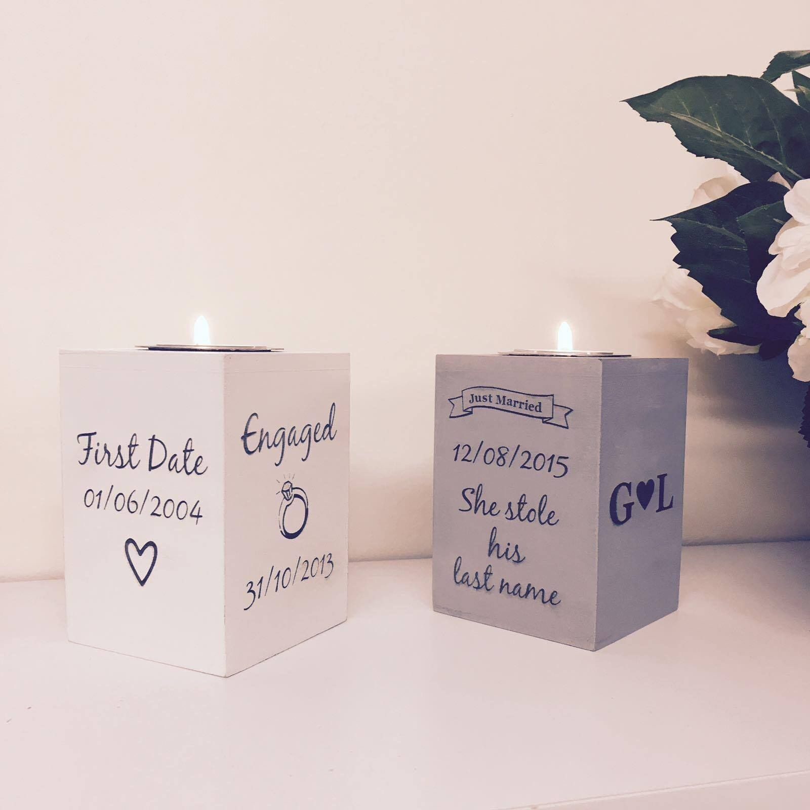 Personalised Tea Light Holder