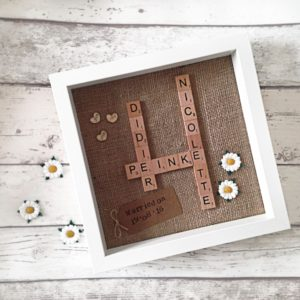 Couples Personalised Scrabble Frame