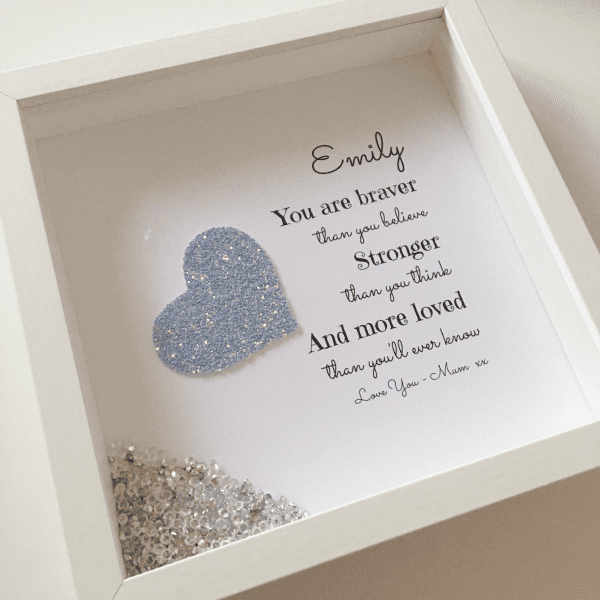 You Are Braver Than...Box Frame | Love Unique Personal