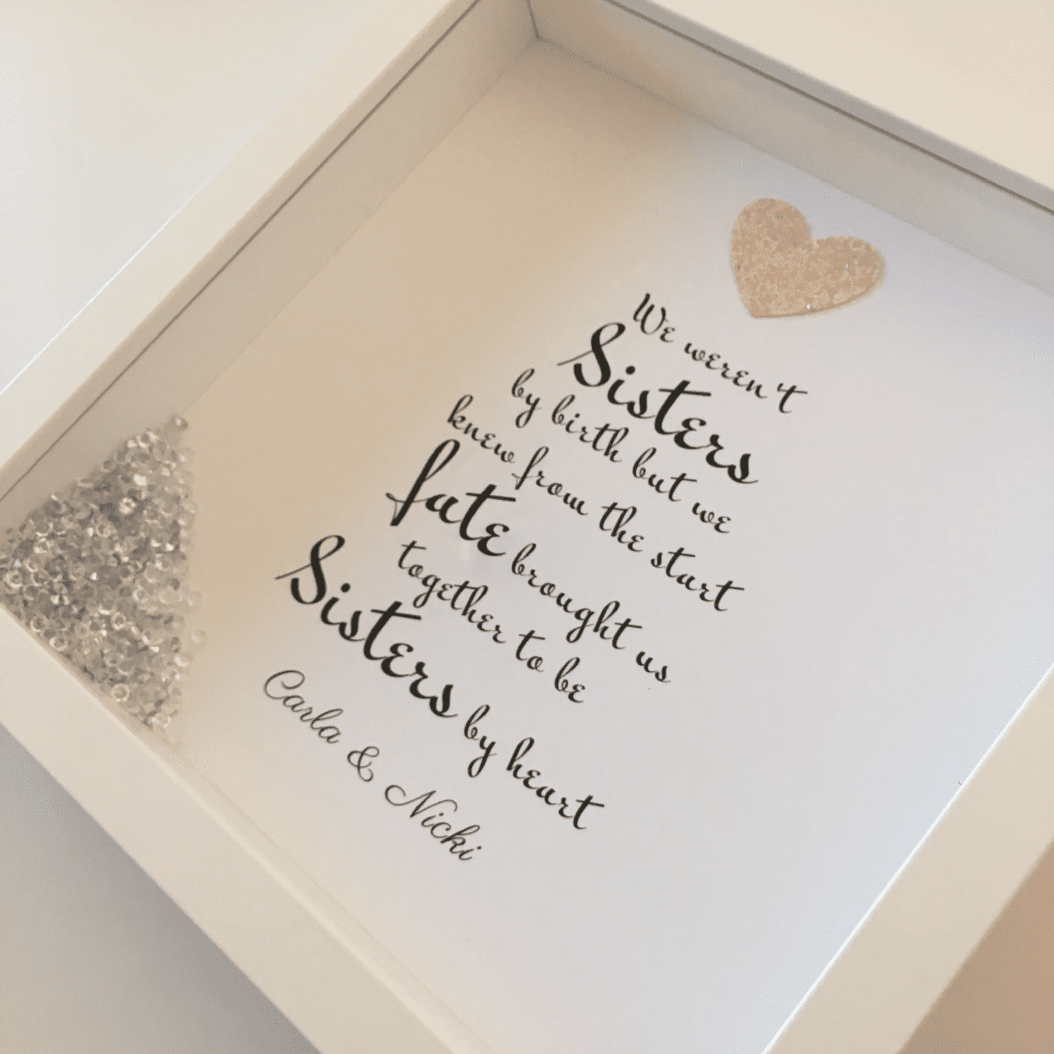 We Weren't Sisters By Birth Personalised Frame