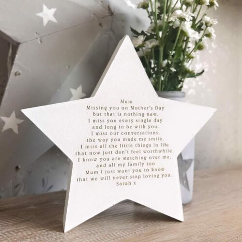 Mother's Day Freestanding Star