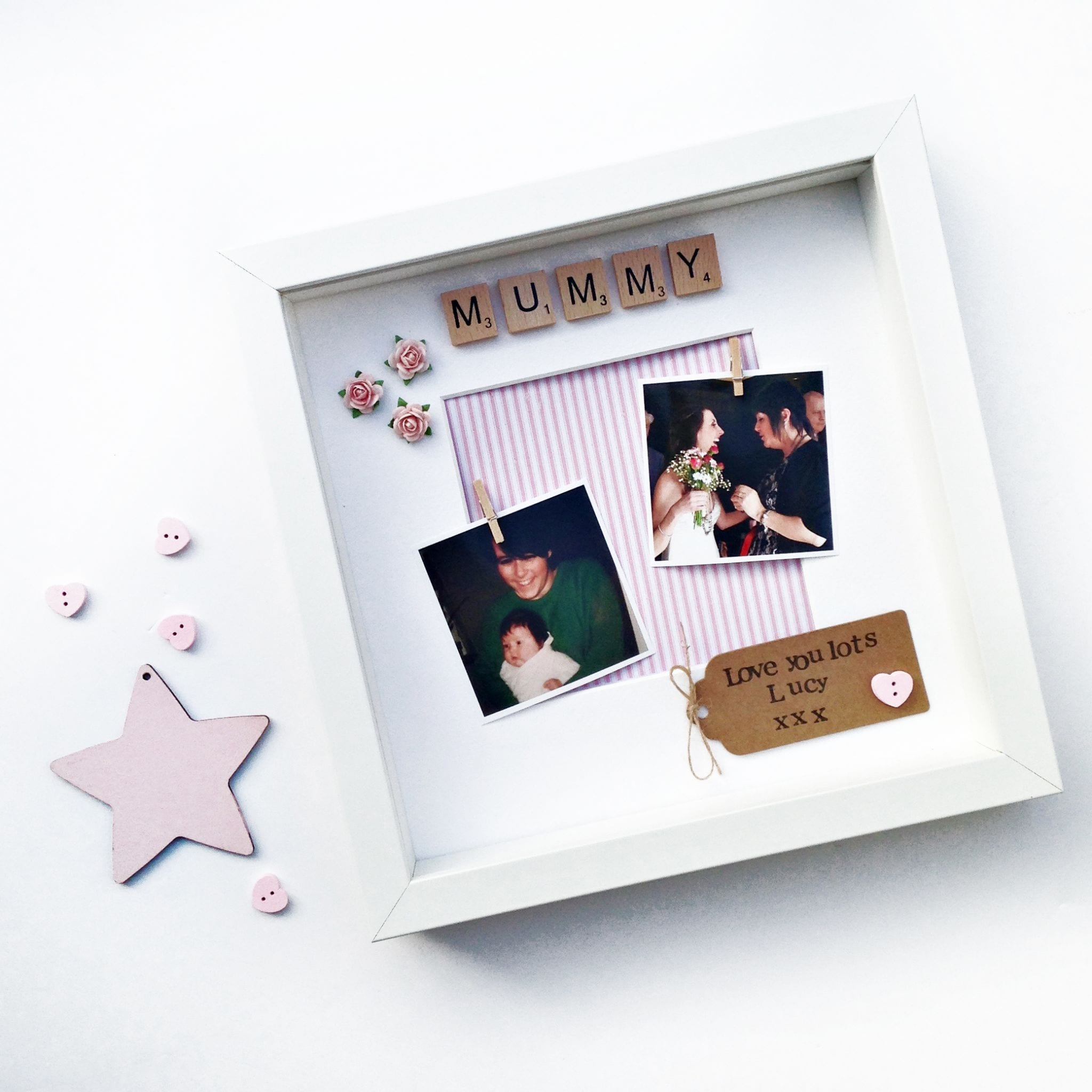Personalised Mummy Scrabble Frame | Love Unique Personal