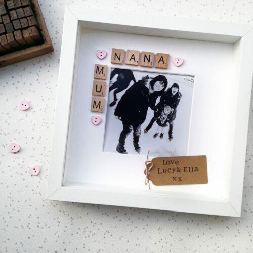 Personalised Mum & Nana Scrabble Frame