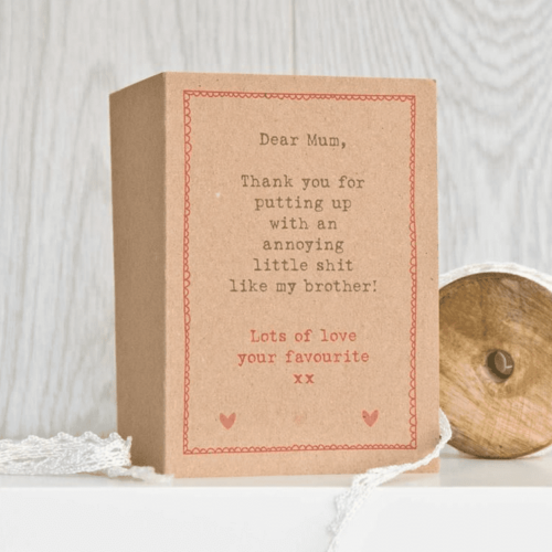'Annoying Little' Mothers Day Card