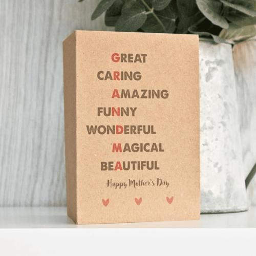 'Grandma' Mothers Day Card