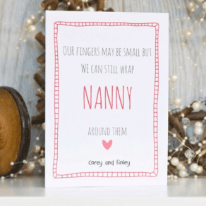 Mothers Day Card 'Fingers may