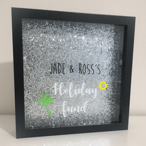 Money box personalised fund frame
