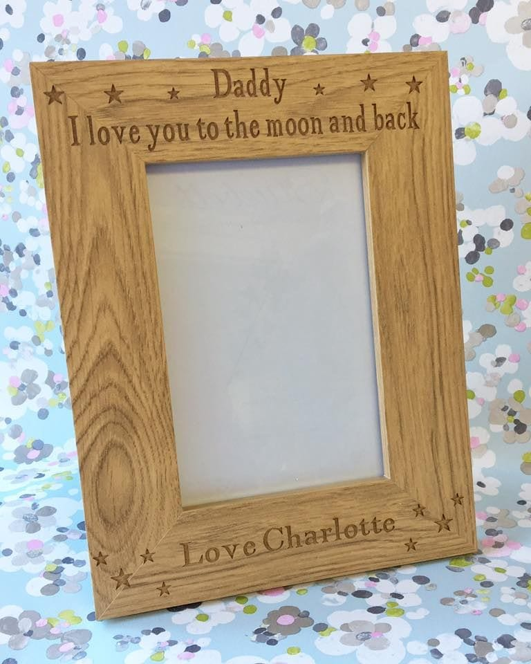 To The Moon And Back Wooden Frame Love Unique Personal