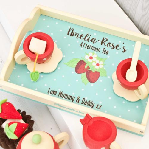 Honeybee Strawberry Tea Set Personalised Toy