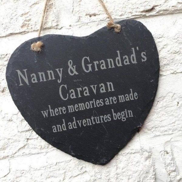 Personalised Slate Caravan Heart Sign