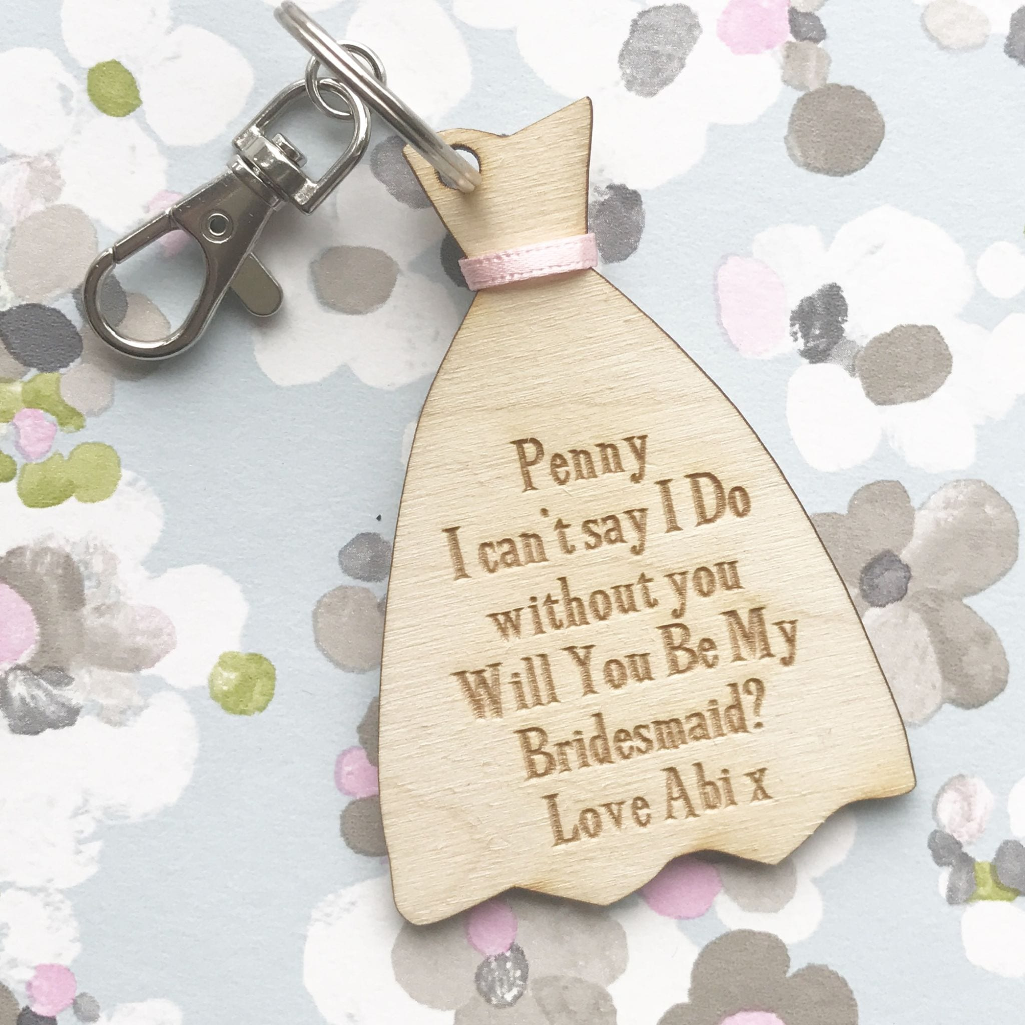 Dress keyring or magnet can't say I do without you