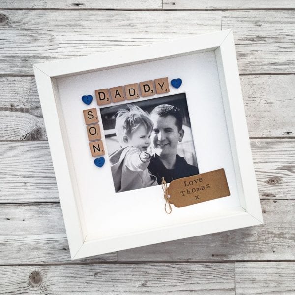 Daddy and Son Scrabble Frame | Love Unique Personal