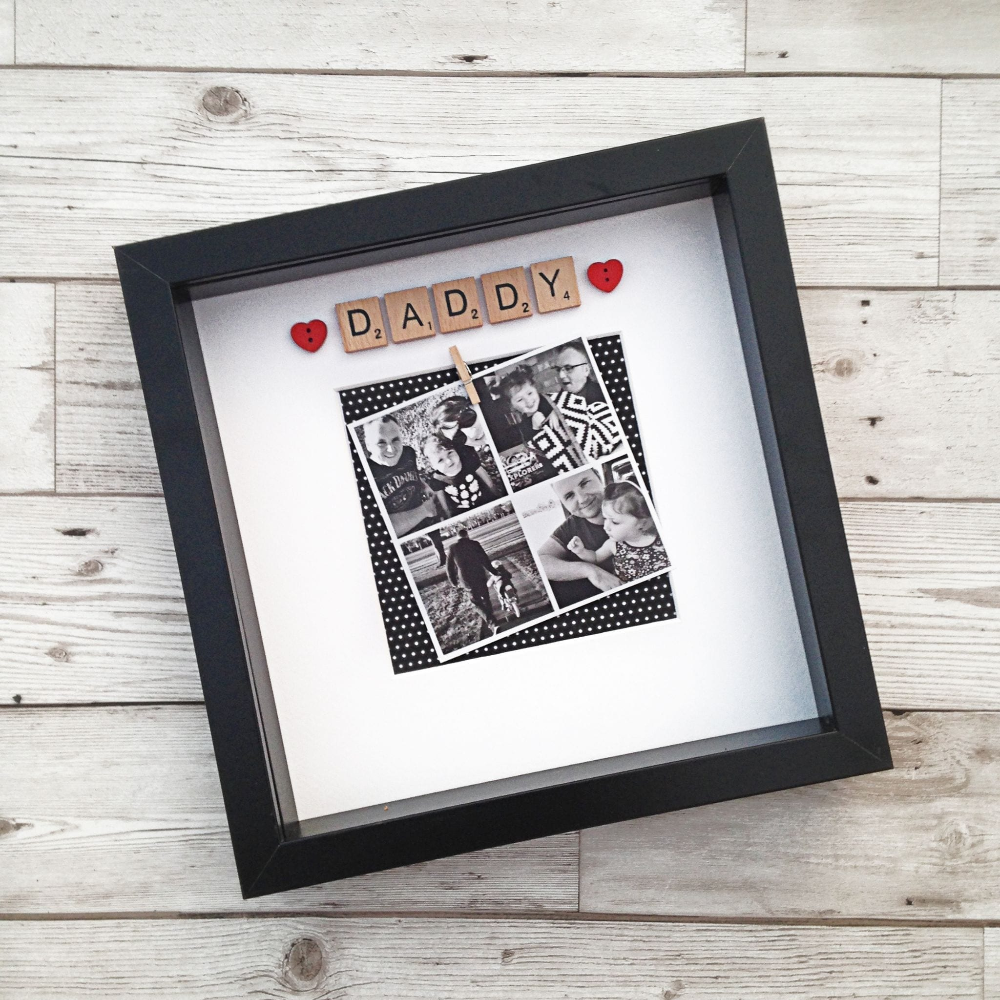 """Daddy"" Photobooth Style Frame"