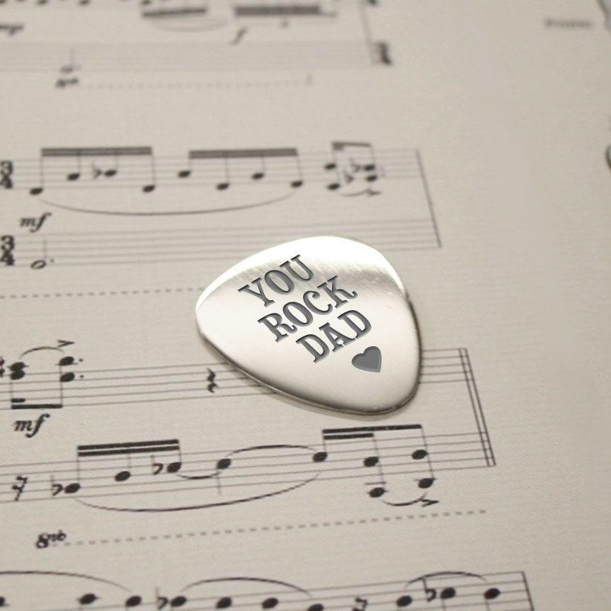 Personalised You Rock Dad Plectrum