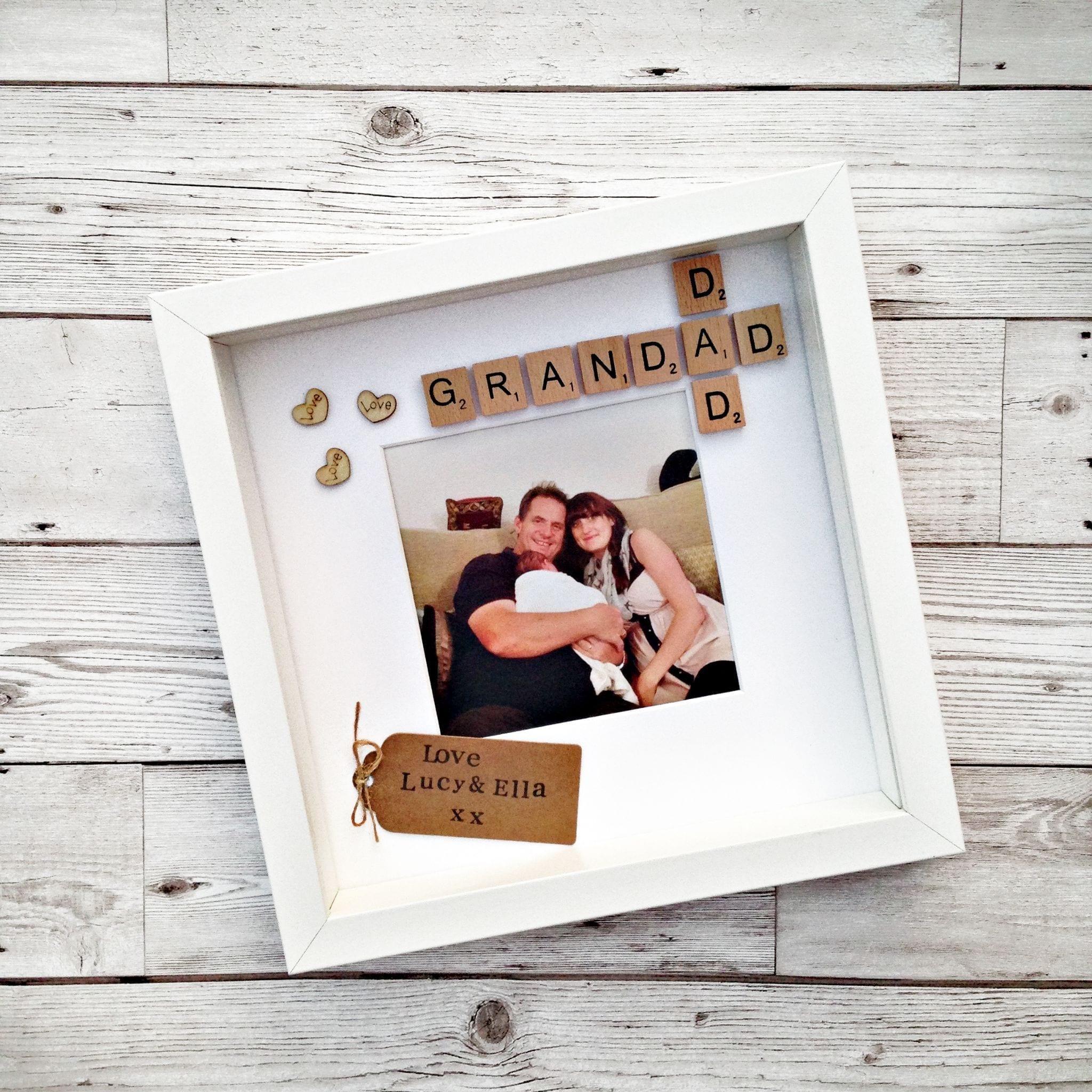 Dad and Grandad Scrabble Frame   Love Unique Personal