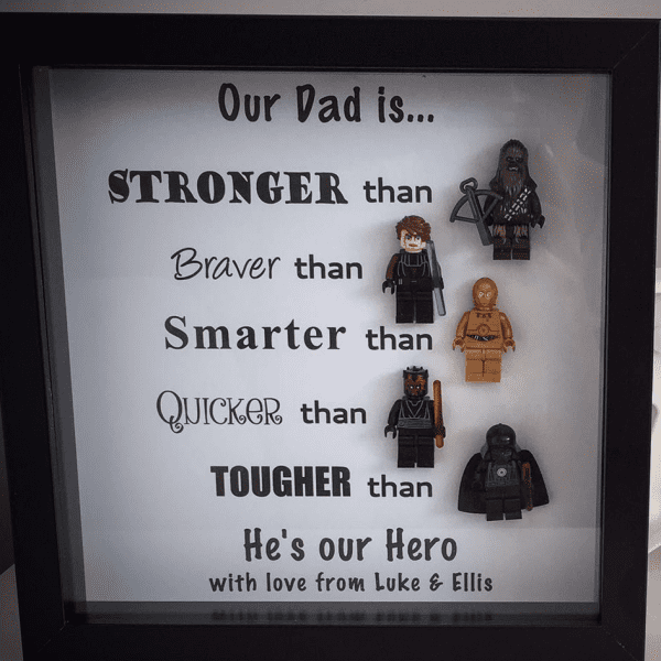 Star Wars Style Figure Daddy Dad Frame Father's Day Gift